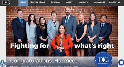Dhillon Law Website